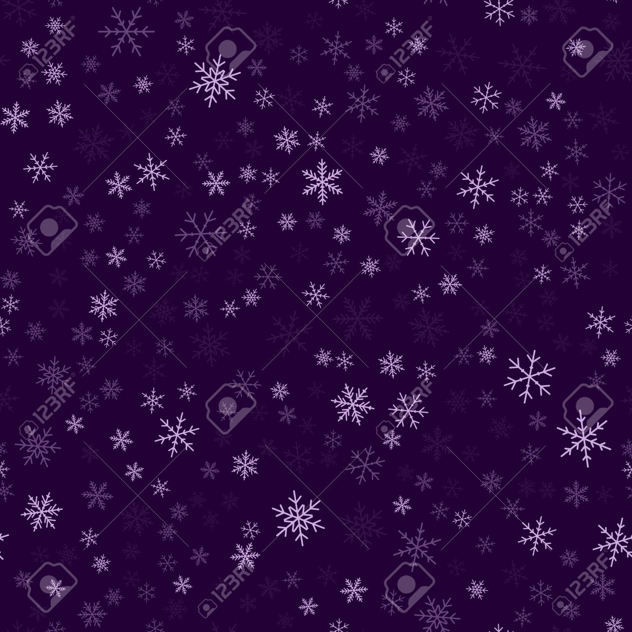 Violet Snowflakes Seamless Pattern On Purple Christmas Background Royalty Free Cliparts Vectors And Stock Illustration Image 105390809
