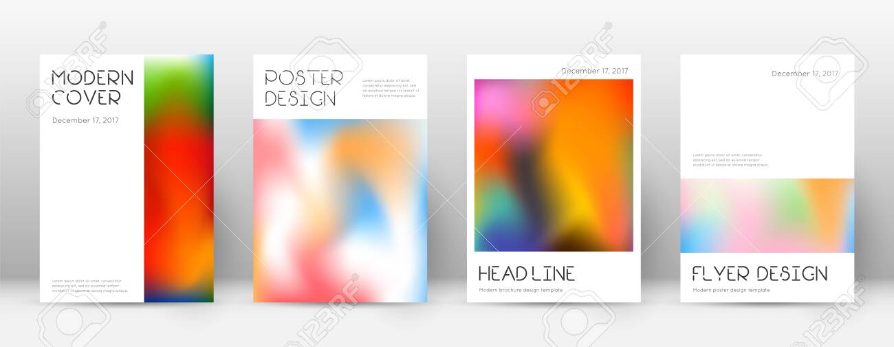 Flyer layout. Minimal flawless template for Brochure, Annual Report, Magazine, Poster, Corporate Presentation, Portfolio, Flyer. Appealing colorful cover page. - 136215515