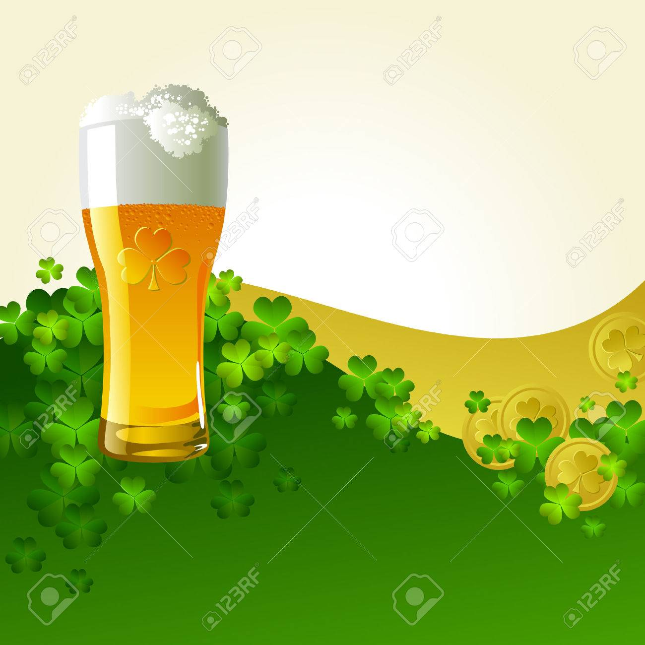 Frosty glass of light beer Stock Vector - 9102059