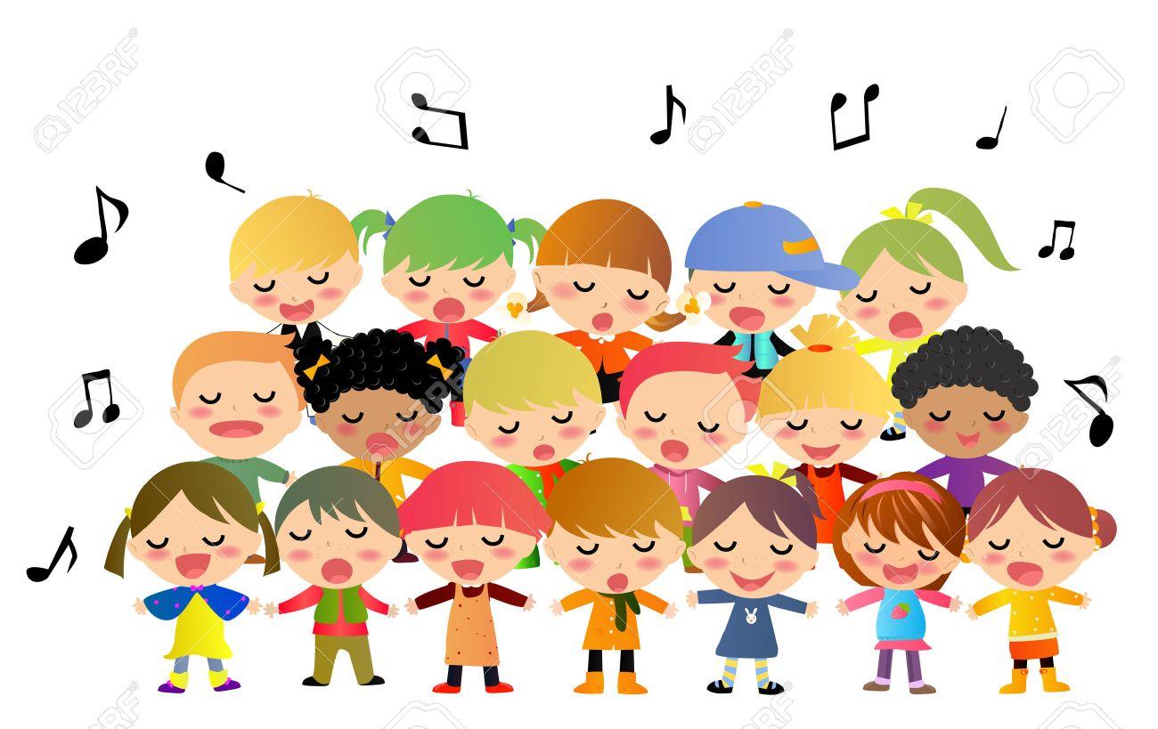 3 540 choir stock vector illustration and royalty free choir clipart rh 123rf com singing kid clipart