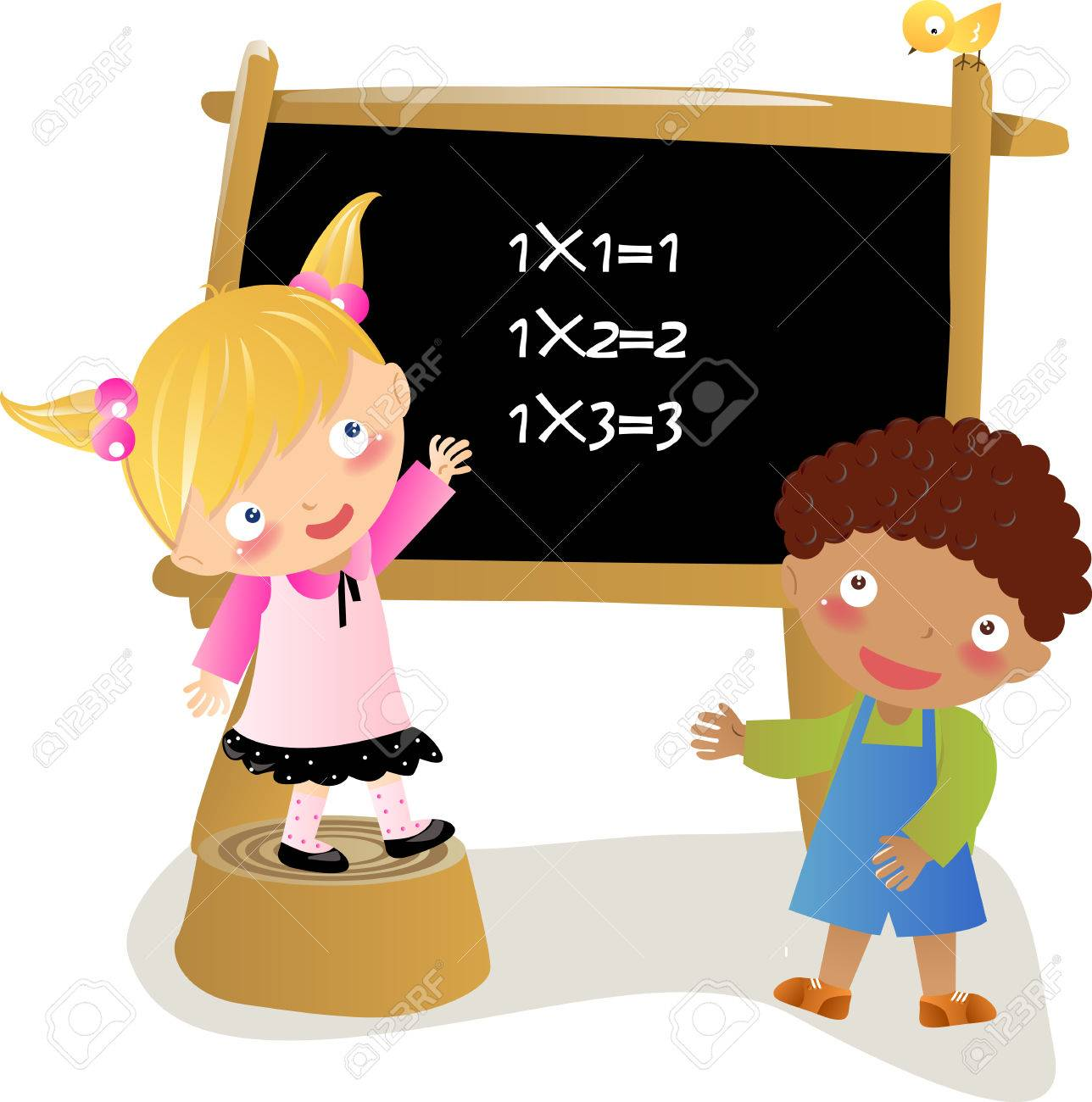 School Kids Learning Maths Royalty Free Cliparts, Vectors, And Stock ...