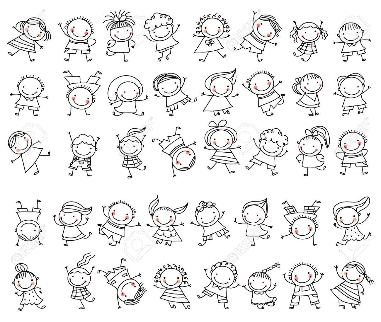 Group of sketch kids - 53259224