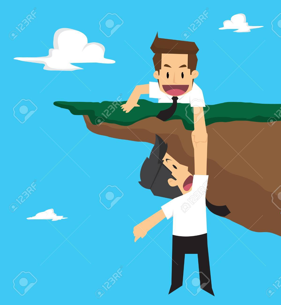 businessman teamwork. vector - 56096162