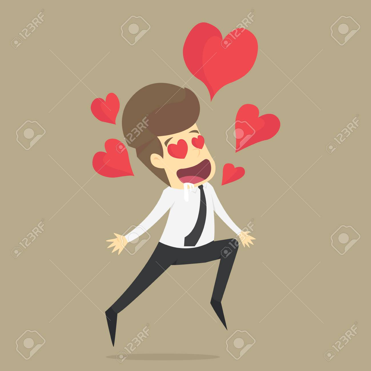 Businessman In Love. Fall In Love.VECTOR. Royalty Free Cliparts, Vectors,  And Stock Illustration. Image 79235933.