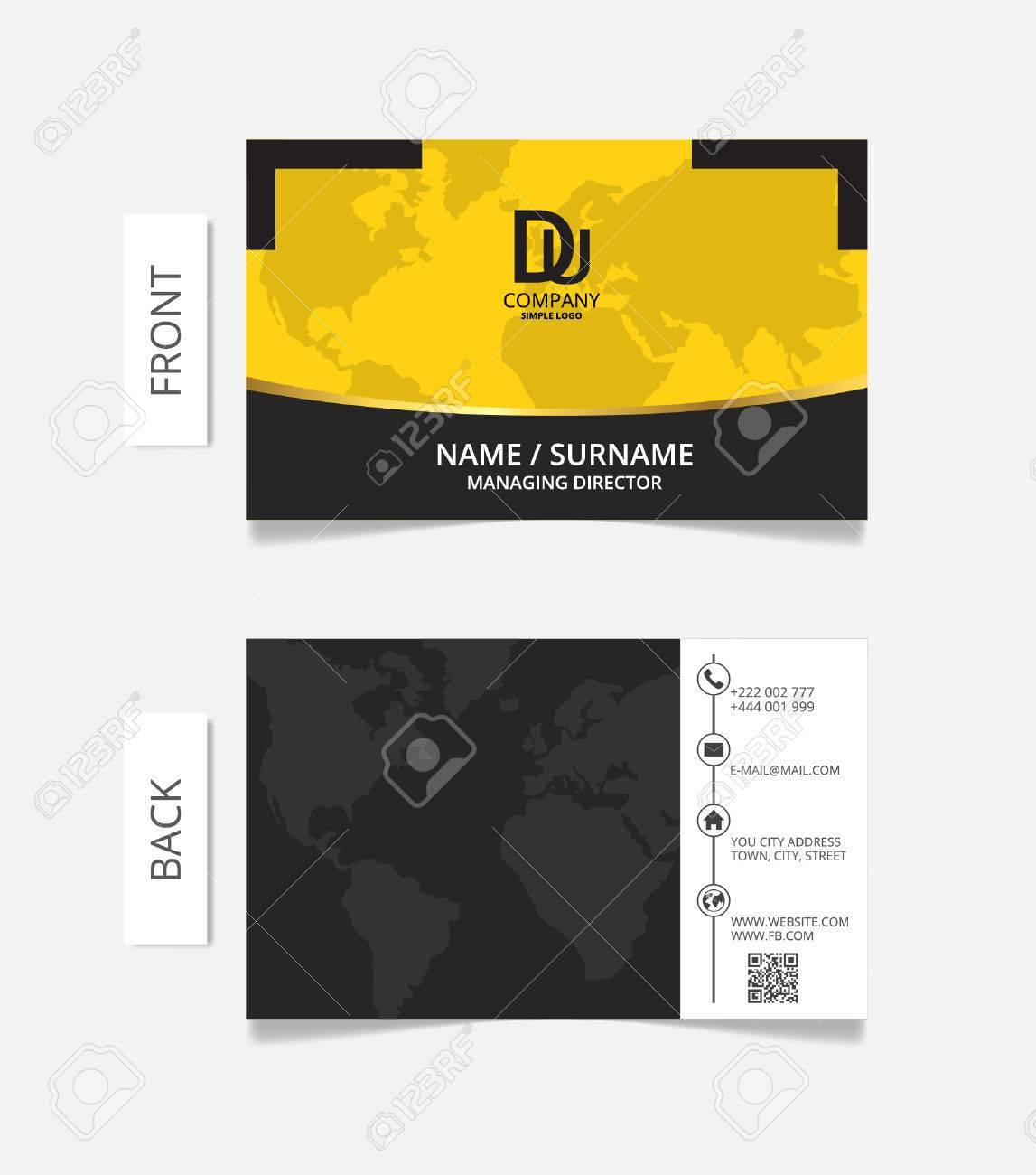 Business Card Modern Design Vector Illustration. Royalty Free ...