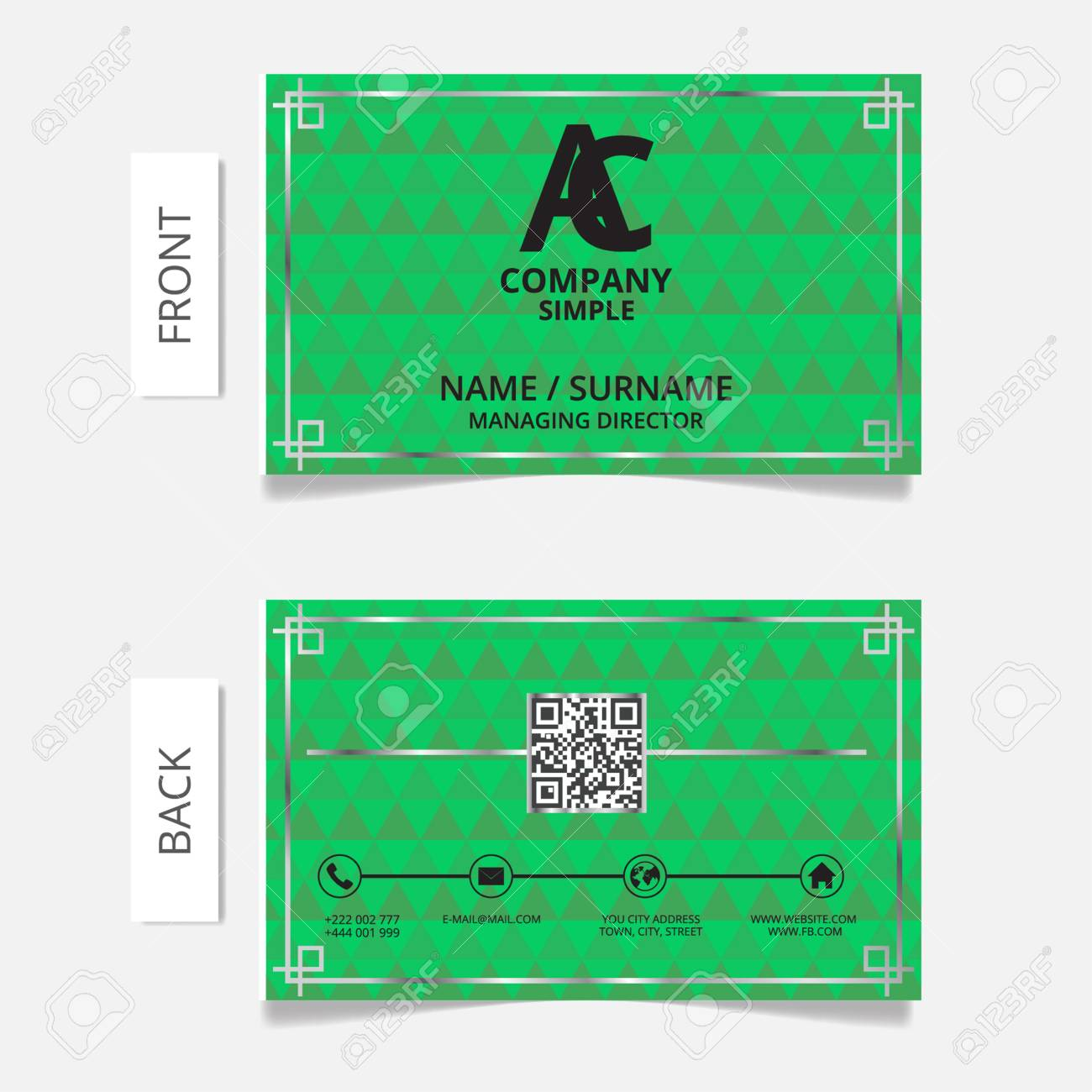 Business Card Modern Design.VECTOR EPS10 Royalty Free Cliparts ...