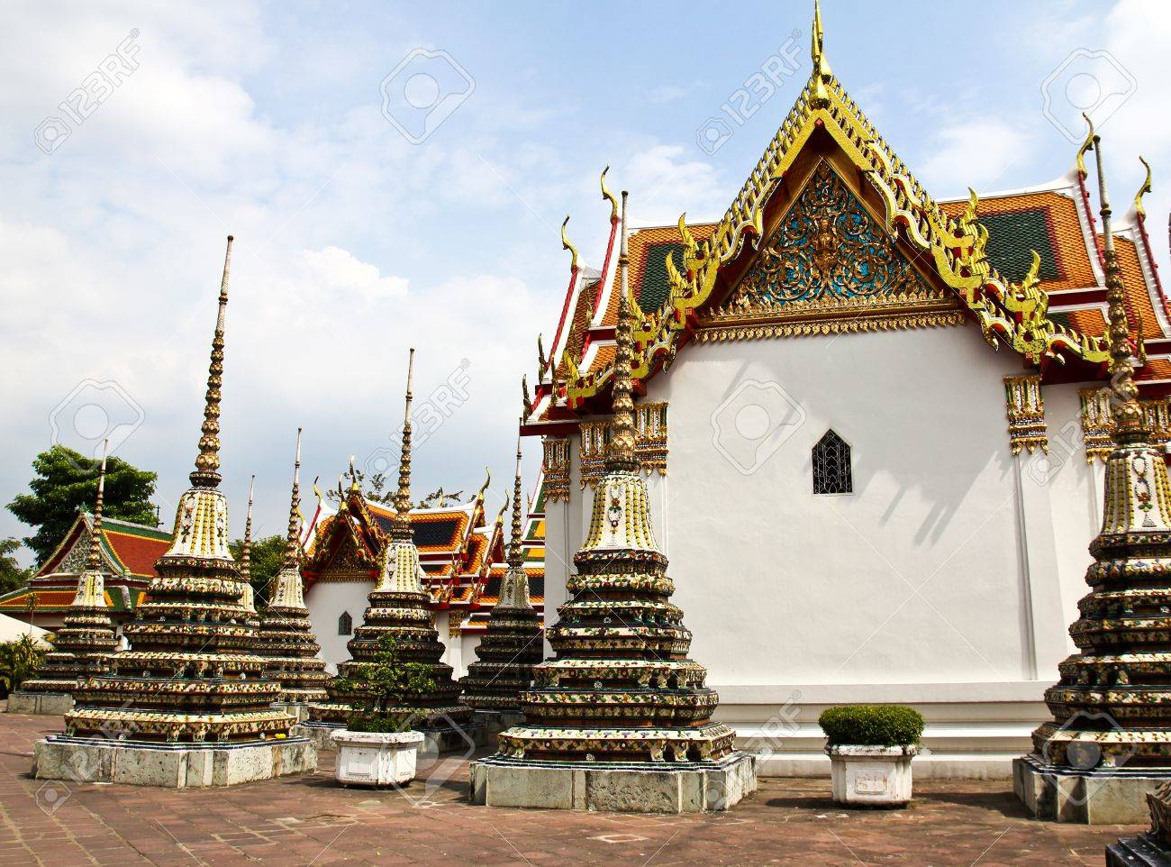 Wat Pho The Temple of reclining buddha Bangkok Thailand. Stock Photo - & Wat Pho The Temple Of Reclining Buddha Bangkok Thailand. Stock ... islam-shia.org