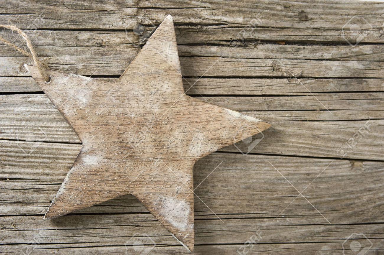 Star on wood Stock Photo - 16433664