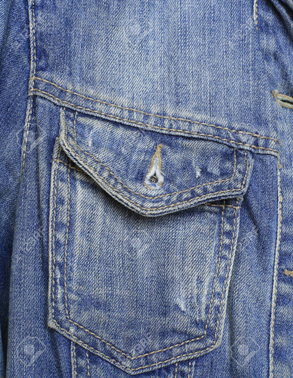 Denim parka in a pocket