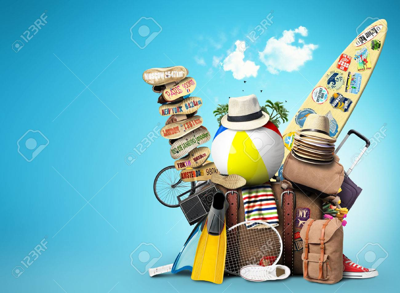 Luggage, goods for holidays, leisure and travel - 43133444