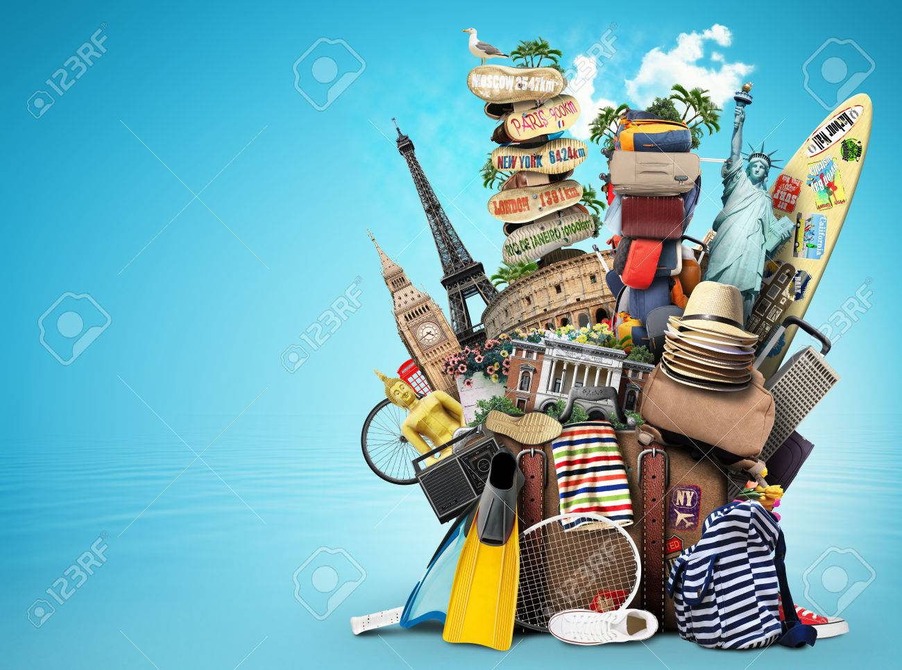 Luggage, goods for holidays, leisure and travel - 50844637