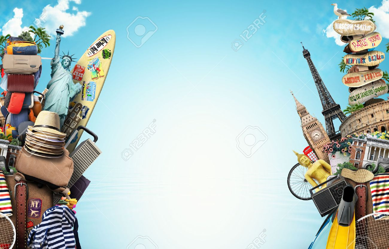 Luggage, goods for holidays, leisure and travel Stock Photo - 50844638