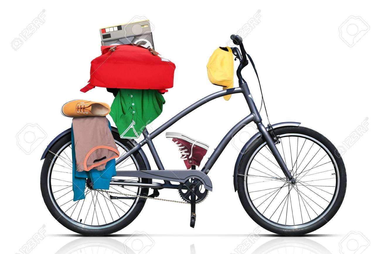 Bel Colore Città Grigia Della Bicicletta Con Le Rotelle Di Spessore
