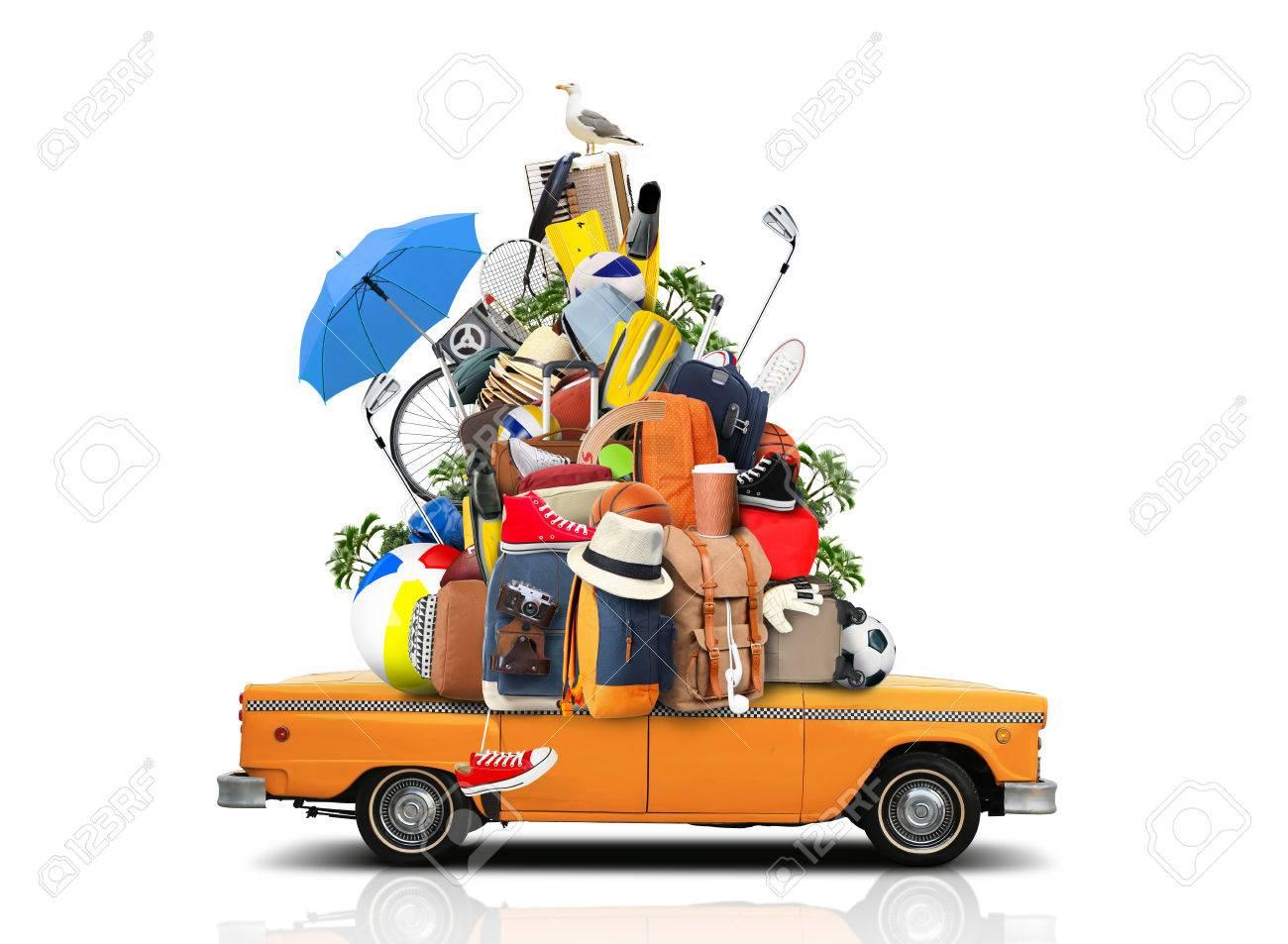 Vacaciones Y Viajes, Un Enorme Montón De Cosas Para La Fiesta ...