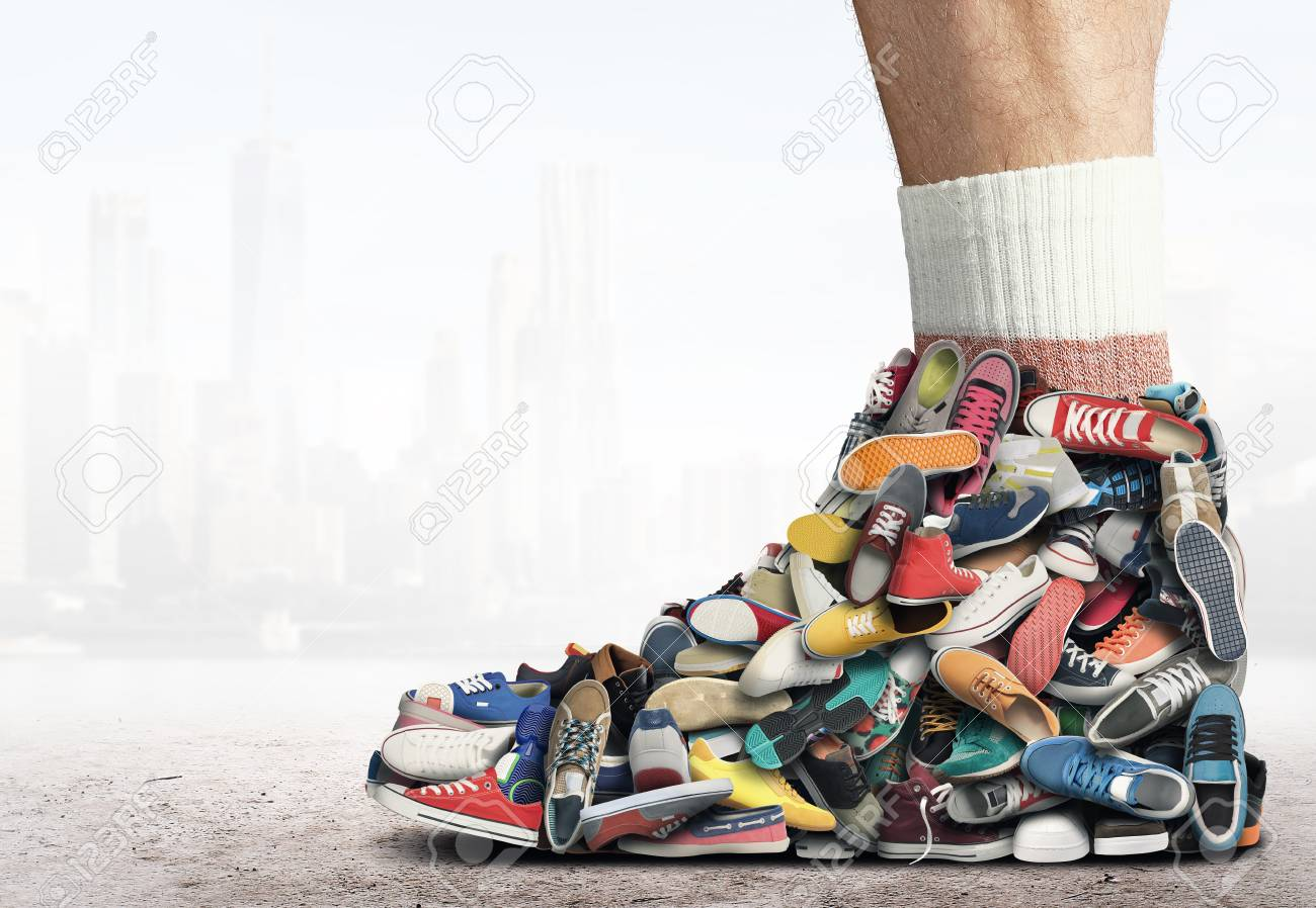 Different Sneakers Stock Photo