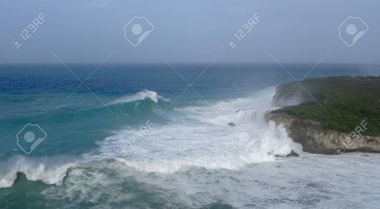 Guadeloupe In Atlantic Ocean And Caribbean Sea Lizenzfreie Fotos