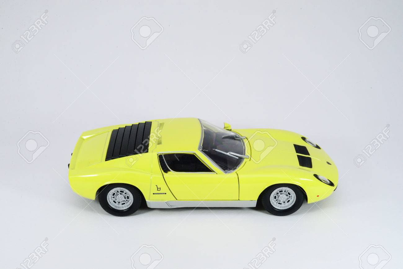 Lamborghini Miura Diecast On Isolated Background Stock Photo