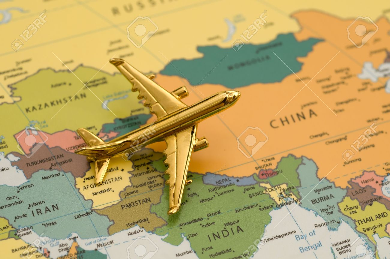 Plane traveling to china map is royalty free off a government plane traveling to china map is royalty free off a government website stock photo gumiabroncs Images