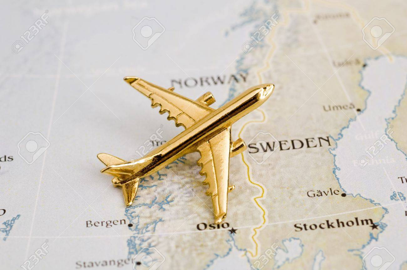 Plane Over Sweden Map Is Copyright Free Off A Goverment Website - Sweden map free