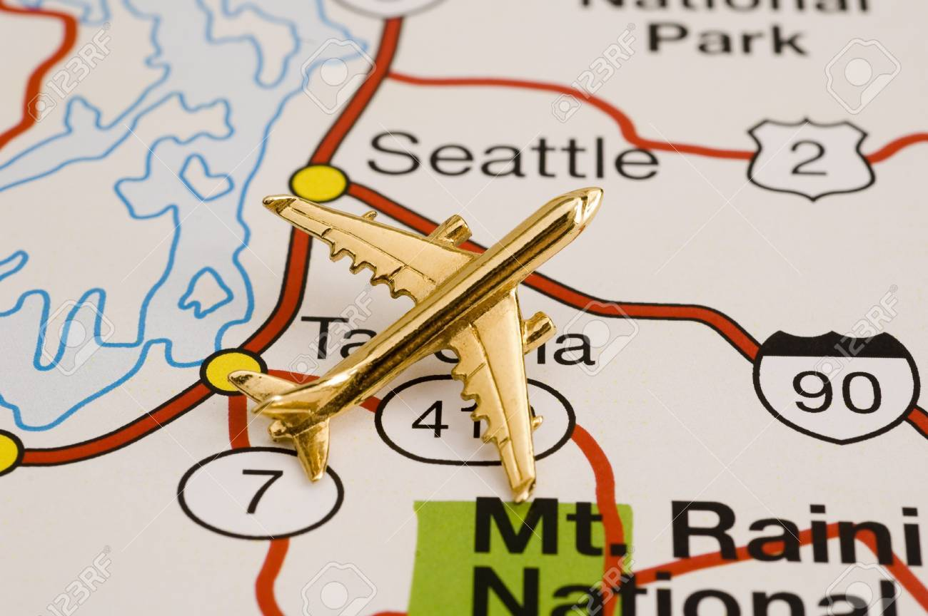Plane Over Seattle Map Is Copyright Free Off A Goverment Website