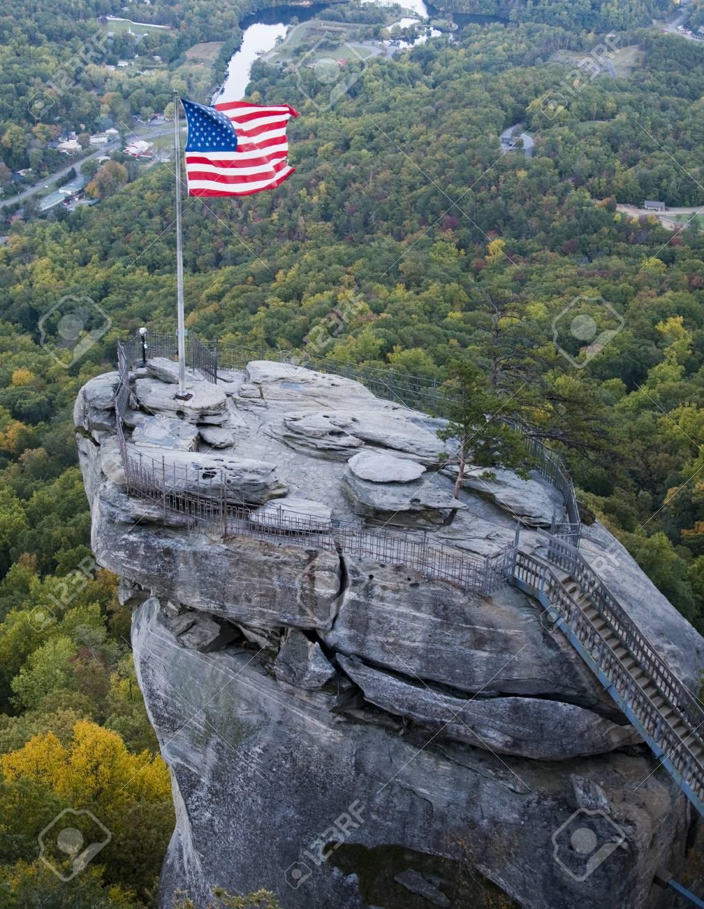 Chimney Rock in North Carolina Stock Photo - 11106536