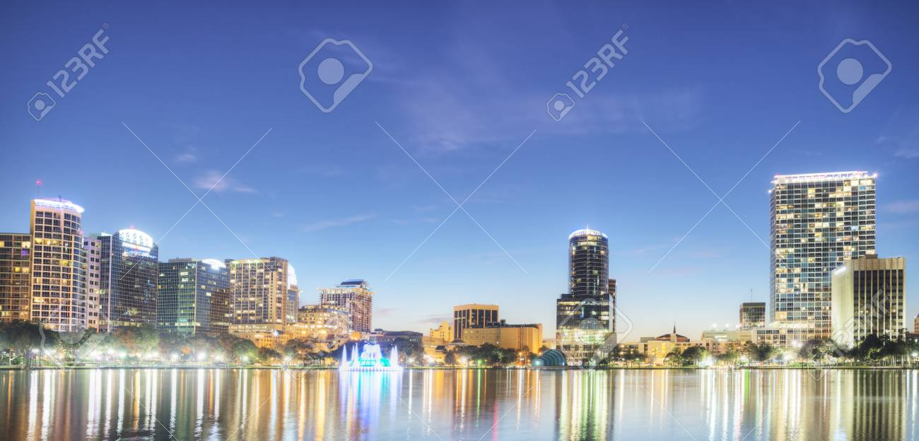 Orlando at Night Stock Photo - 17788906