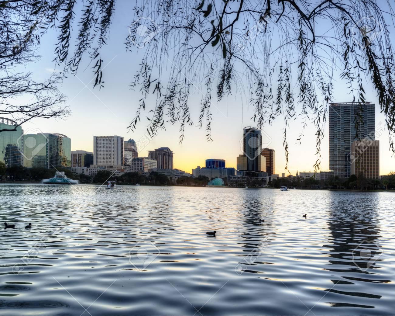Orlando at Lake Eola Park Stock Photo - 19502604