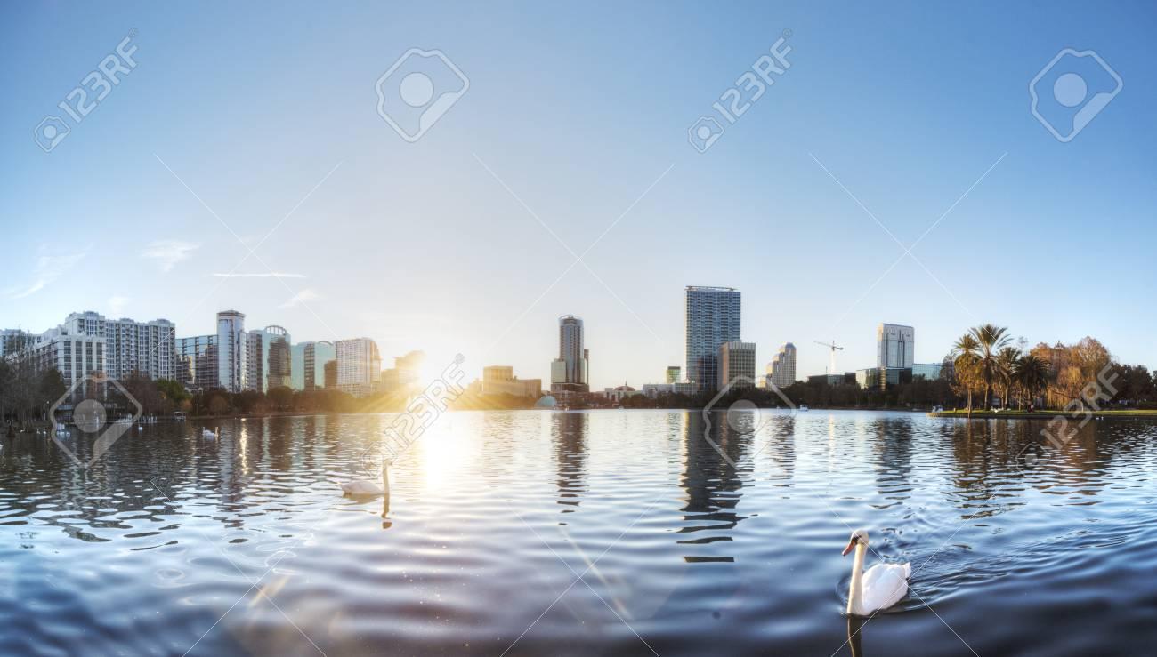 Orlando at Lake Eola Park Stock Photo - 19502546