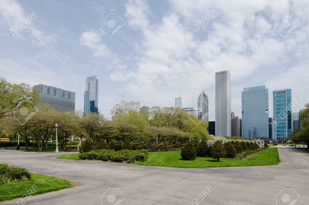 Grant Park in Chicago Stock Photo - 20365046