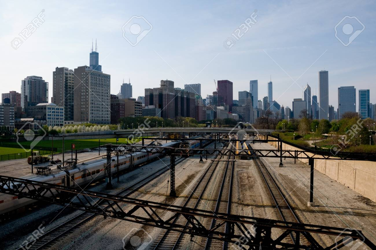 Chicago with Railroad Stock Photo - 20359993