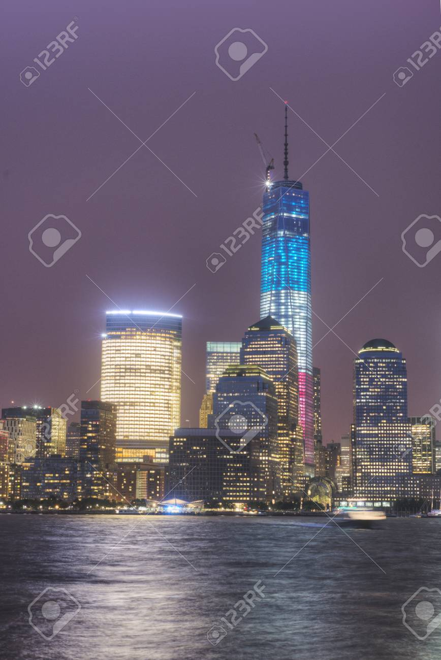 NYC at Night Stock Photo - 21058666
