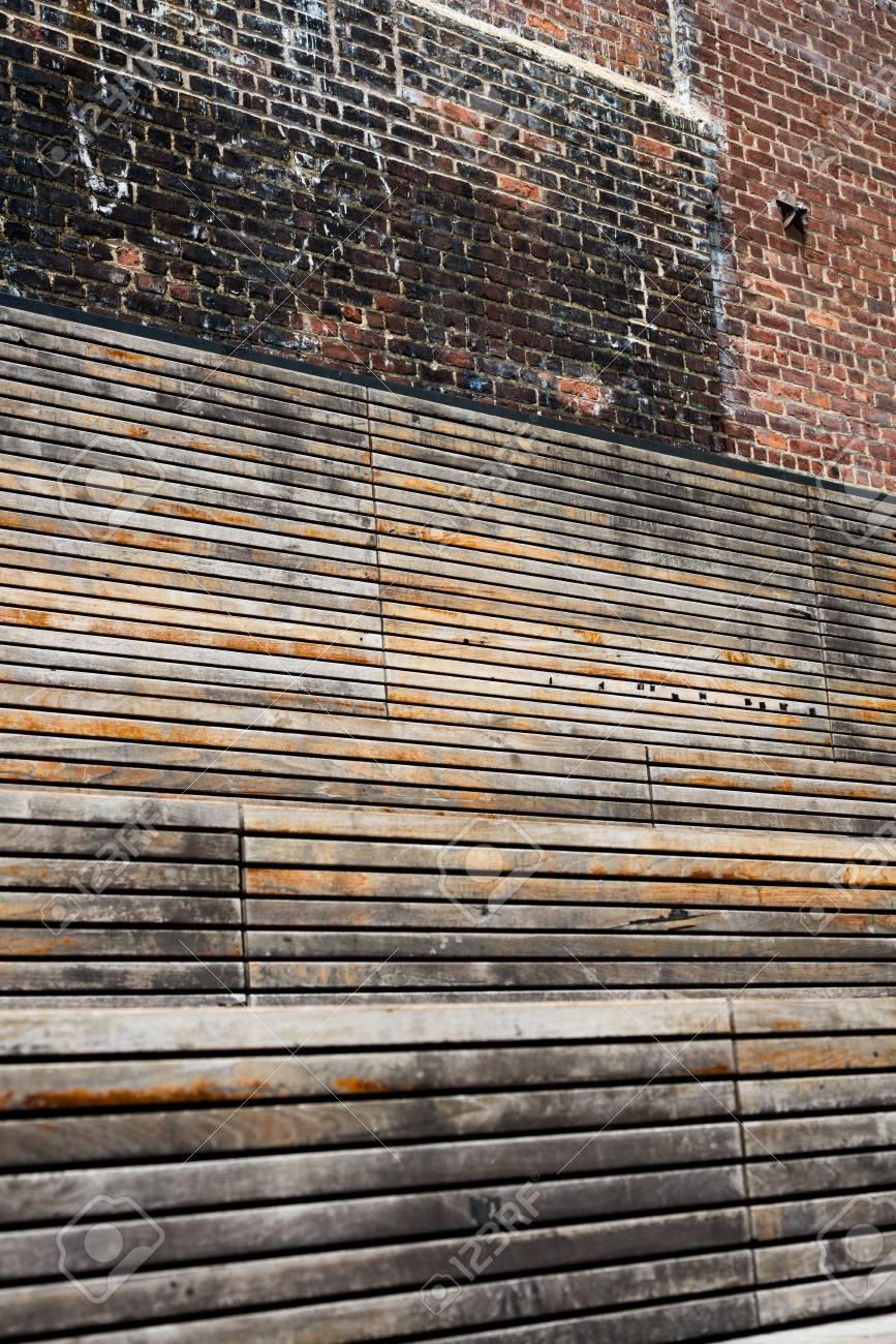 Wood and Brick Texture Stock Photo - 21058700