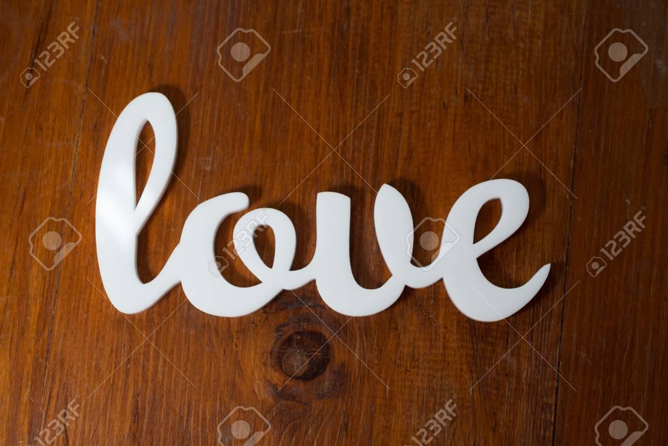 Love on Wood Stock Photo - 21195098