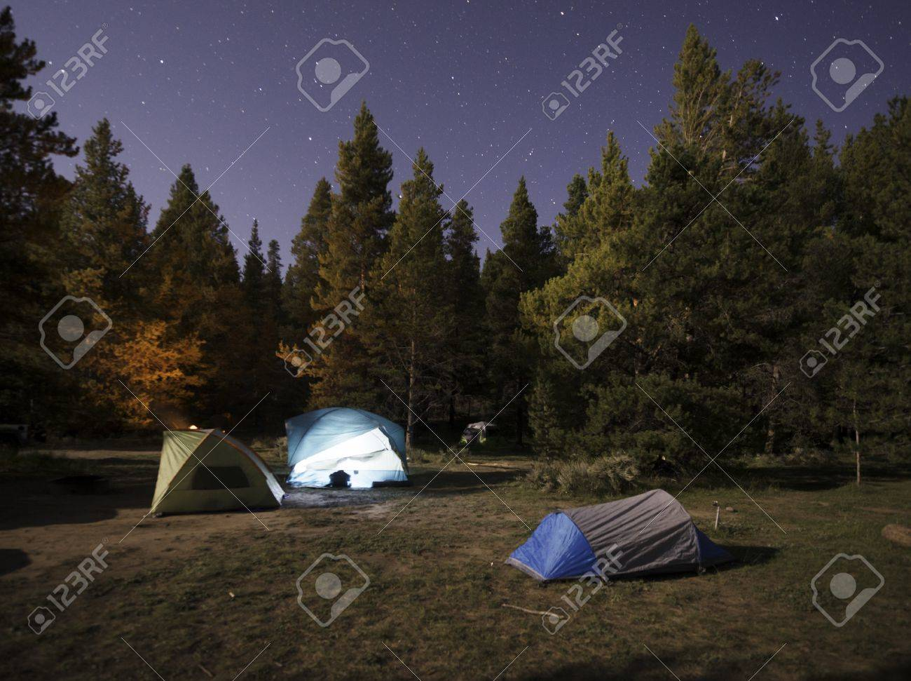 Camping in the Rockies Stock Photo - 21889515