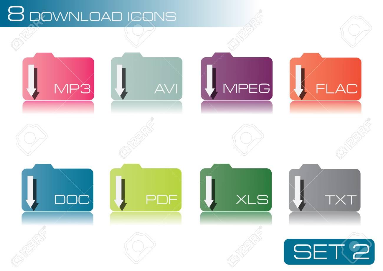 website folders Stock Vector - 25307452