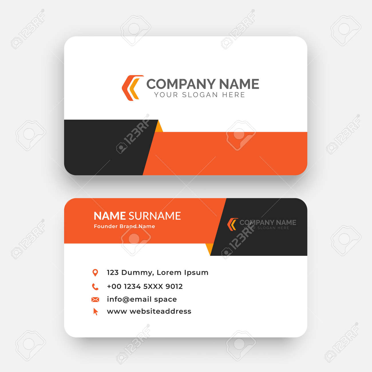 simple horizontal business card template design with vector - 167577259