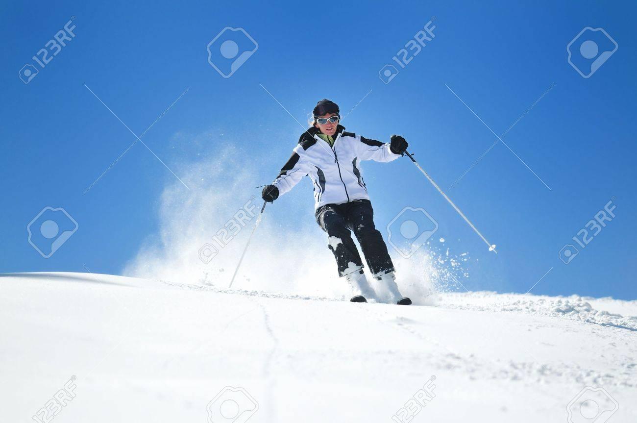 winter woman  ski  sport  fun  travel  snow Stock Photo - 5292425