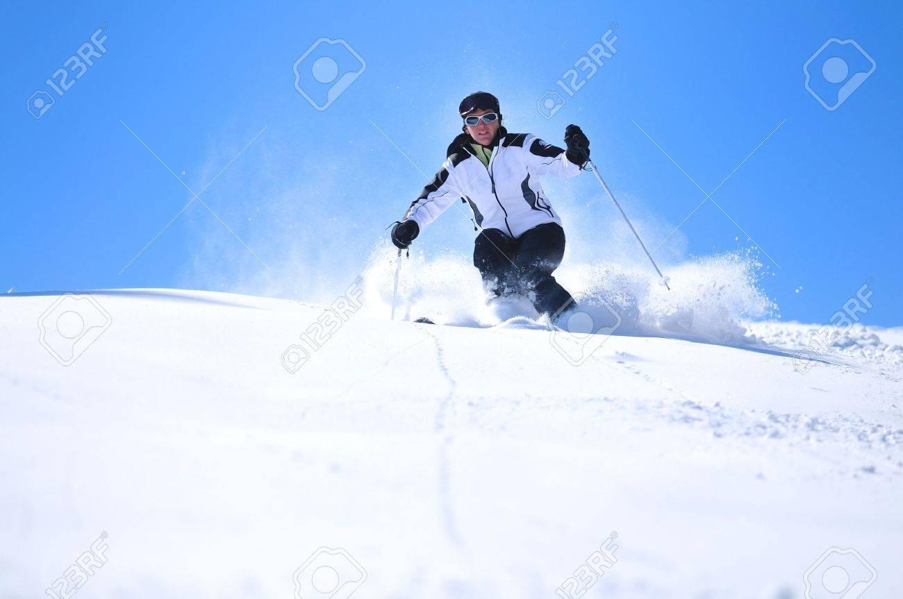 winter woman  ski  sport  fun  travel  snow Stock Photo - 5265416