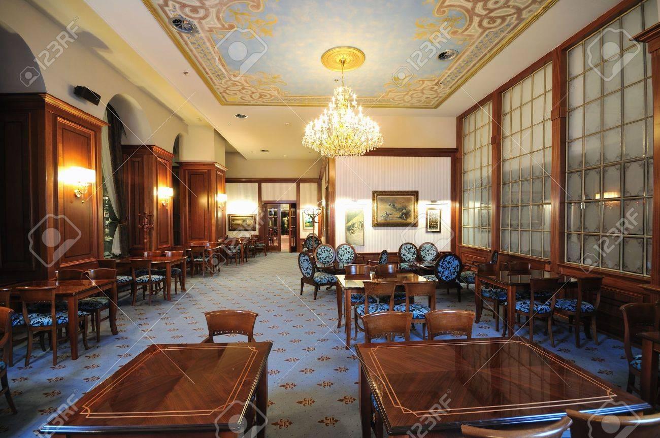 Luxury restaurant furniture - Coffee Restaurant Indoor With Luxury Wooden Furniture Stock Photo 5396506