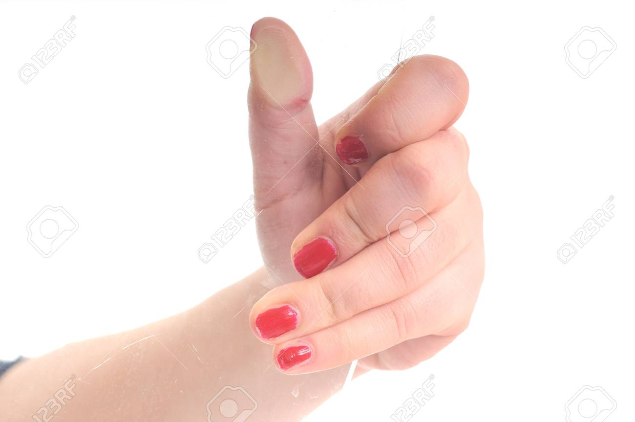 woman hand isolated glass hold Stock Photo - 5289281