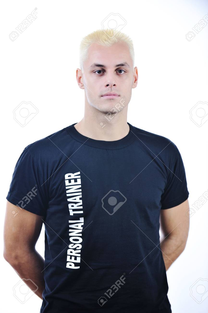 man fitness personal trainer in sport club Stock Photo - 6403367