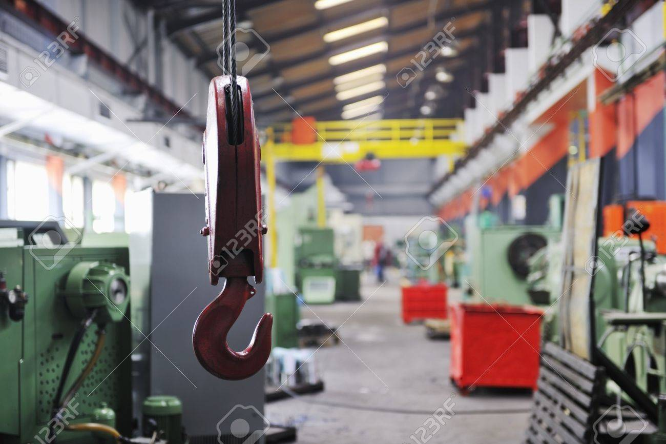 iron works steel and machine parts modern factory indoor hall Stock Photo - 7075753