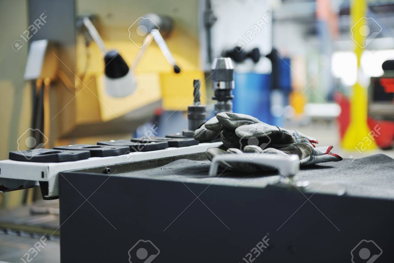 iron works steel and machine parts modern factory indoor hall Stock Photo - 7075749