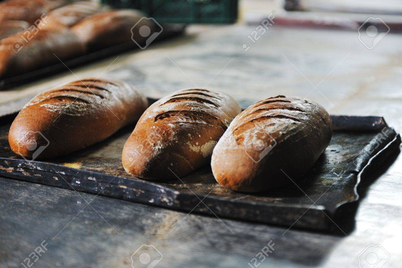 bread bakery food factory production with fresh products Stock Photo - 8475925