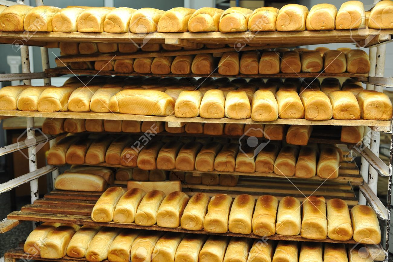 bread bakery food factory production with fresh products Stock Photo - 8475931