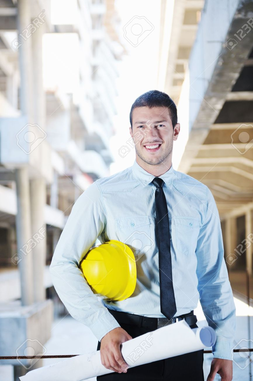 business man Architect engineer manager at construction site project Stock Photo - 10540614