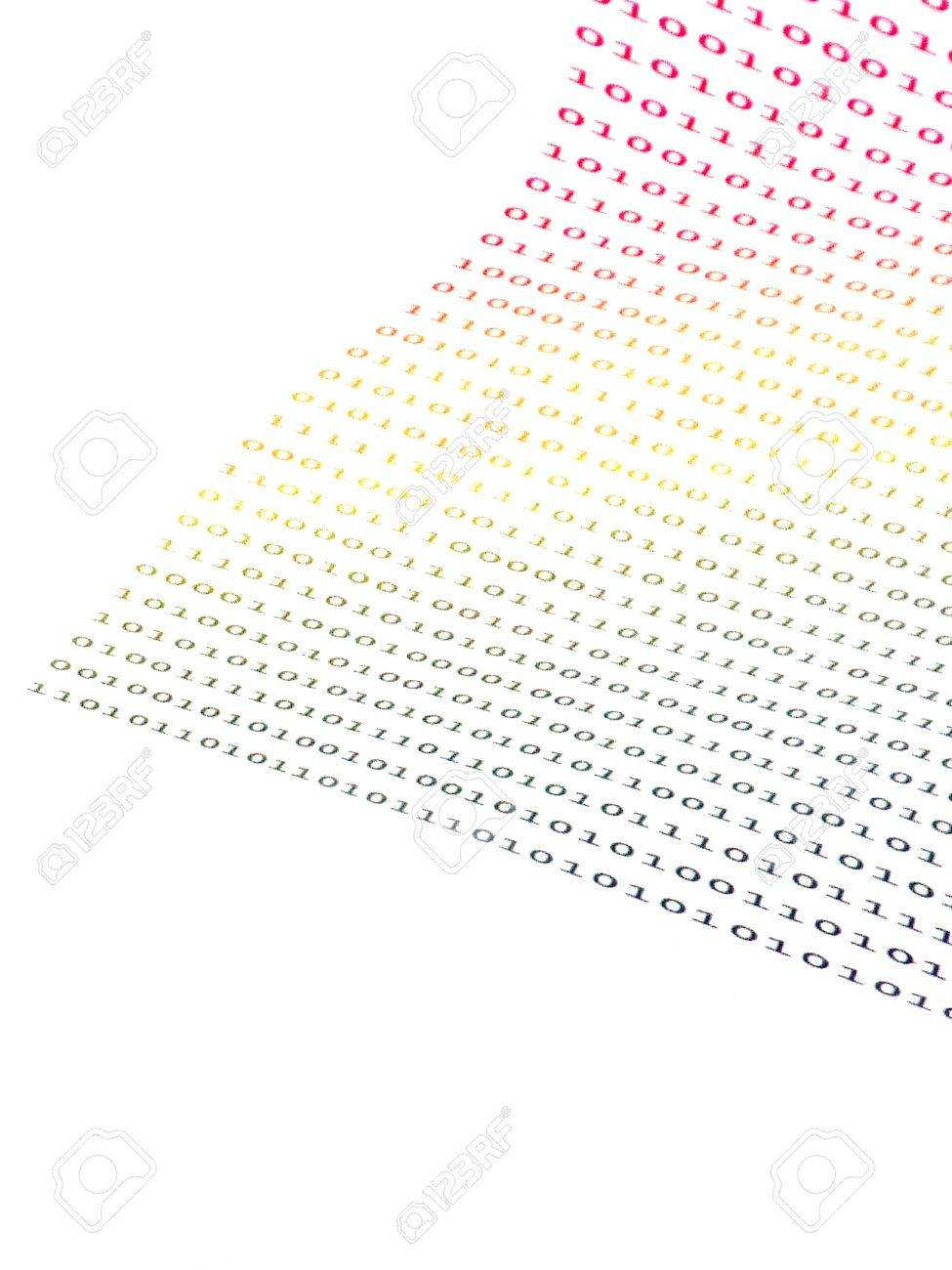 binary numbers on white background Stock Photo - 11463808