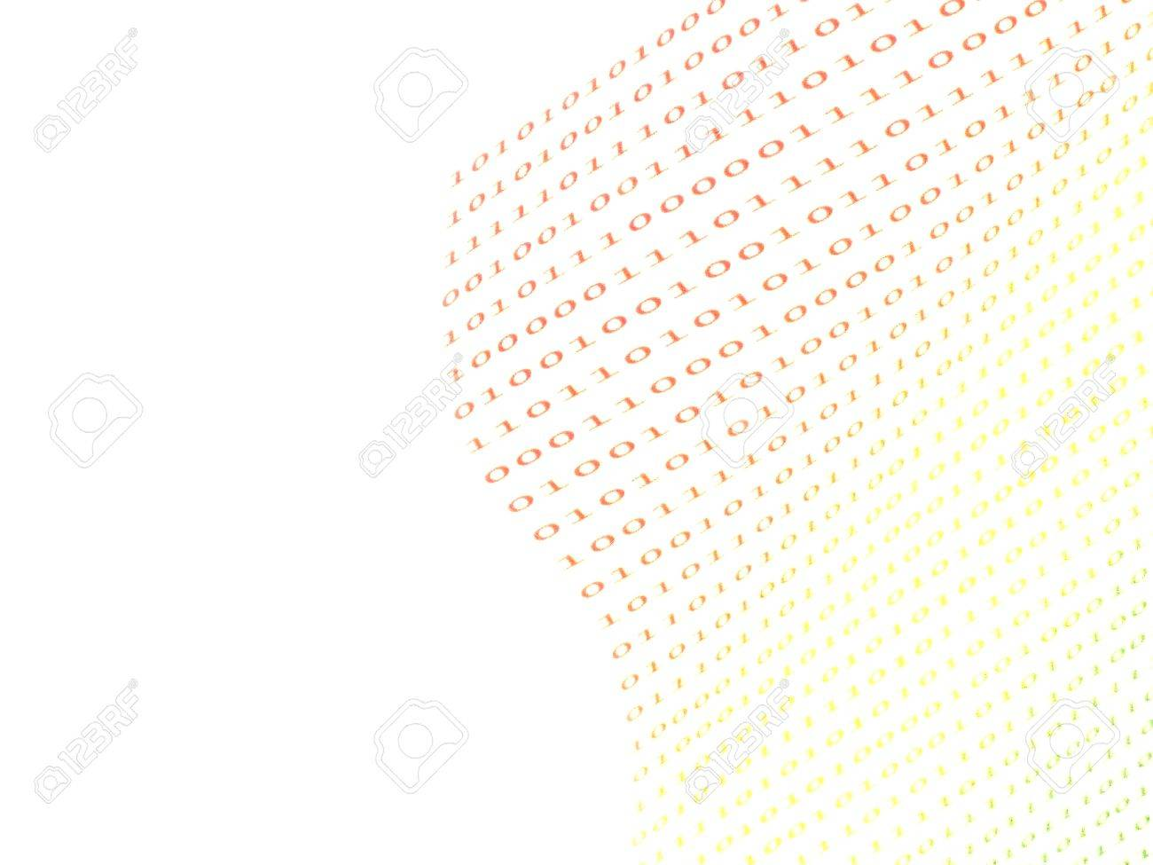 binary numbers on white background Stock Photo - 11463788