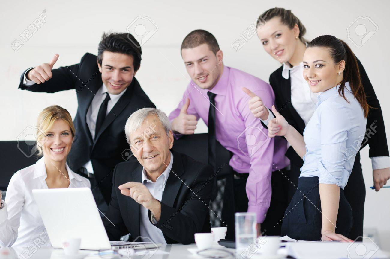 business people team at a meeting in a light and modern office stock photo business people team at a meeting in a light and modern office environment