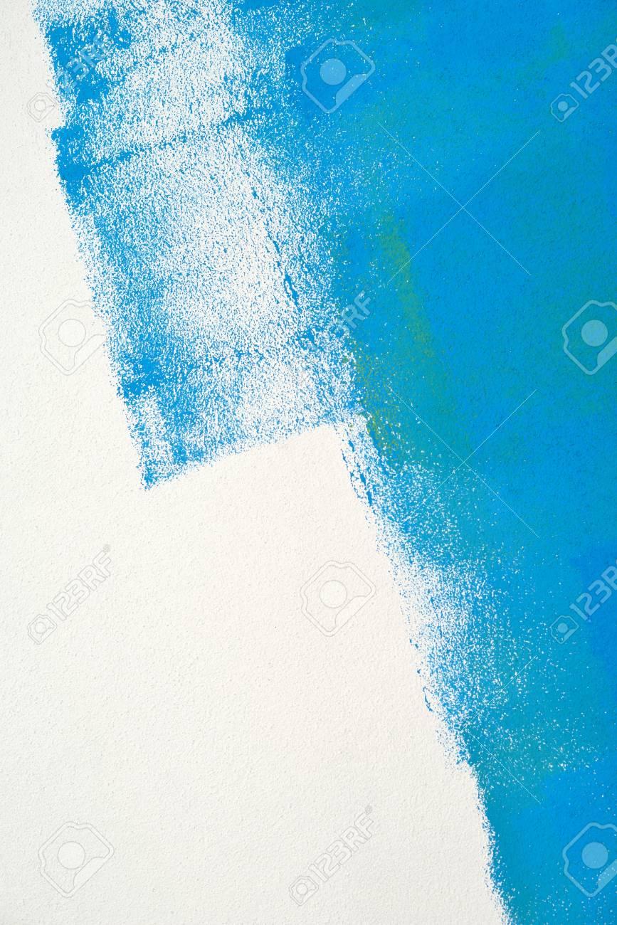 Peindre La Couleur Du Mur D Arrière Plan Bleu Vert Texture Réelle Isolé Sur Blanc Avec Copie Espace